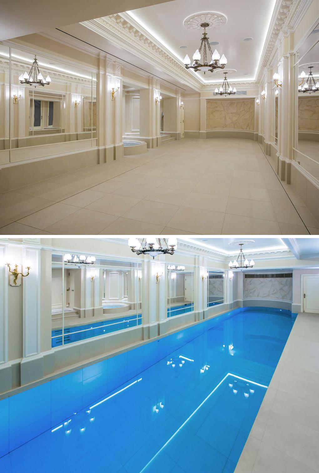 ยกพื้นสระว่ายน้ำให้กลายเป็นพื้นเรียบๆ