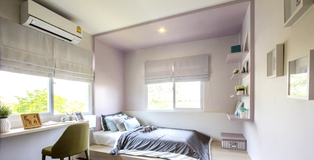 ห้องนอนมักเป็นห้องที่นิยมติดแอร์