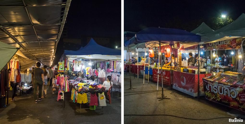 กาดนัดหลังบิ๊กซีที่มีอาหารและสินค้ามาขายเฉพาะศุกร์เสาร์อาทิตย์