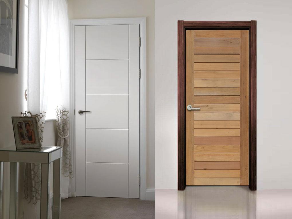 ประตู uPVC กับไม้จริง