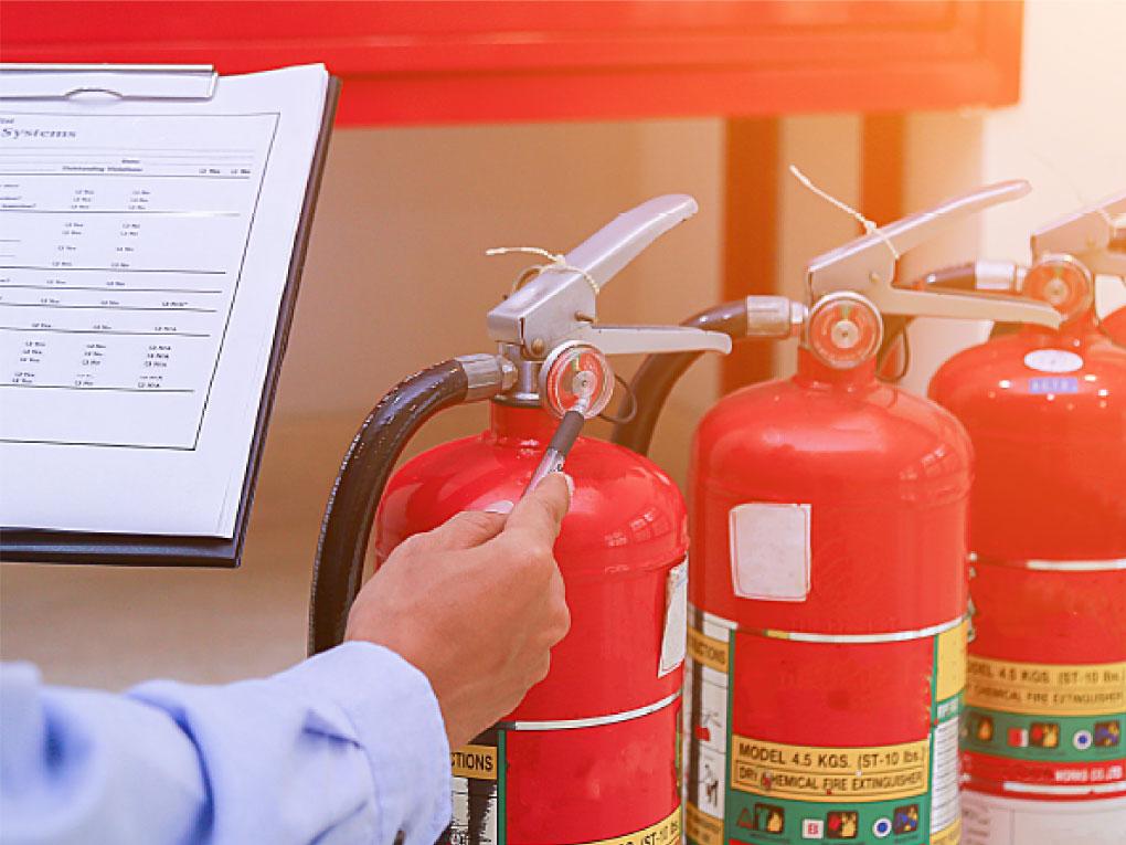 วิธีตรวจสอบถังดับเพลิง