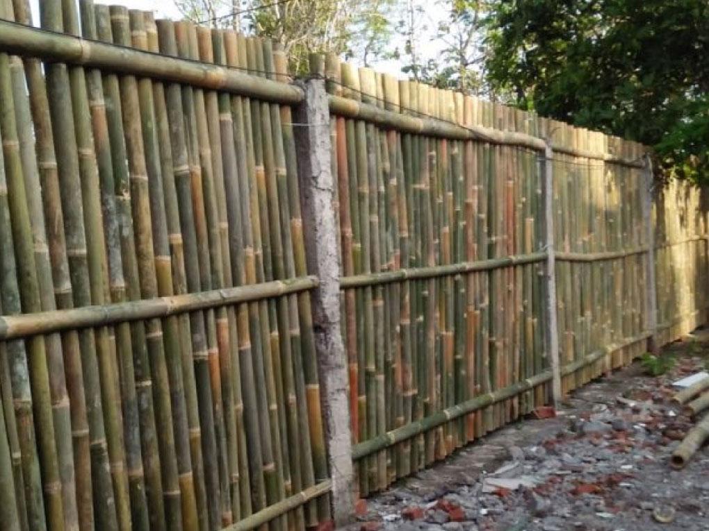ขั้นตอนการทำรั้วไม้ไผ่