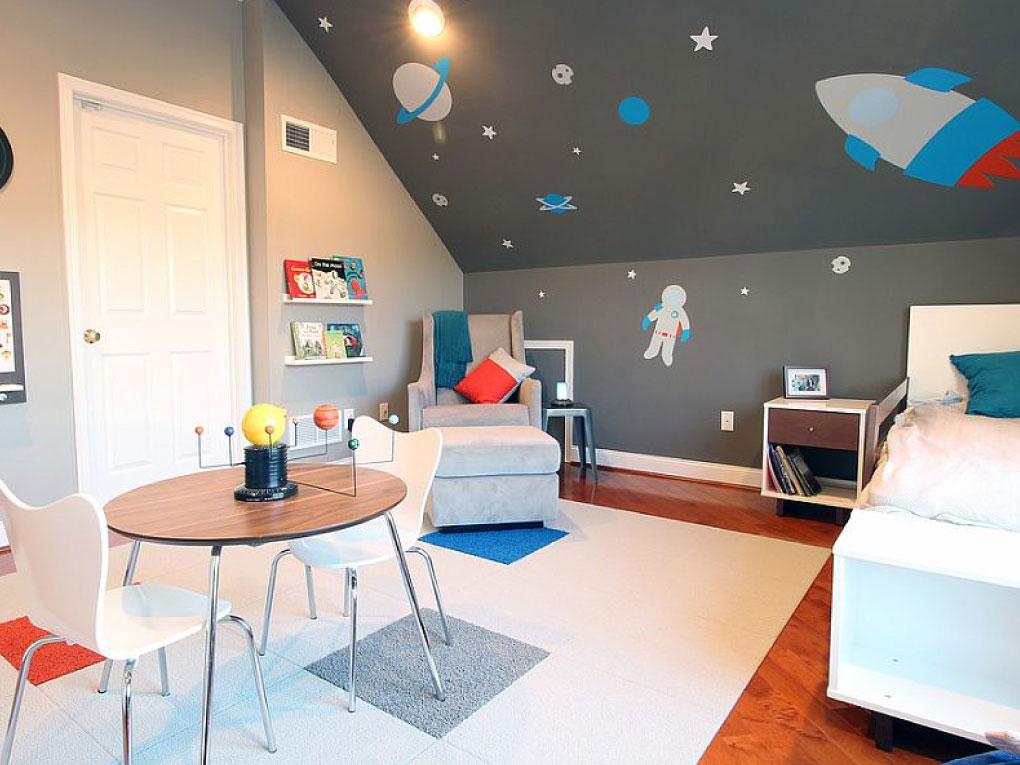 ห้องเด็กสไตล์นอกอวกาศ