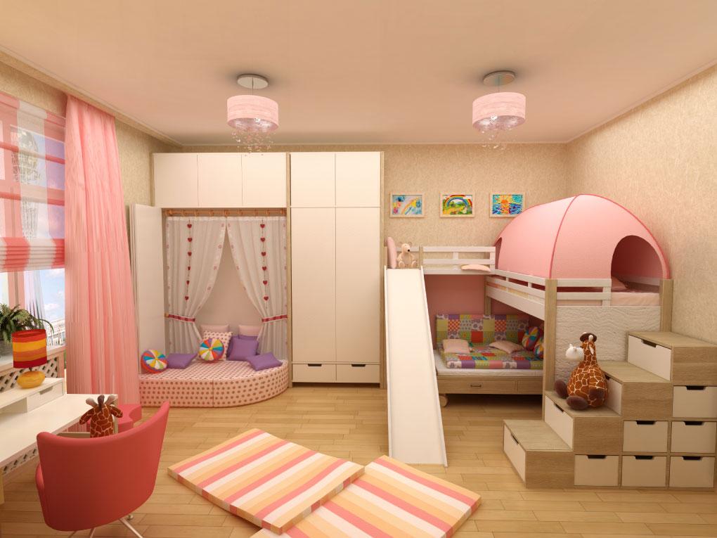 ห้องเด็กที่มีพื้นที่จำกัด