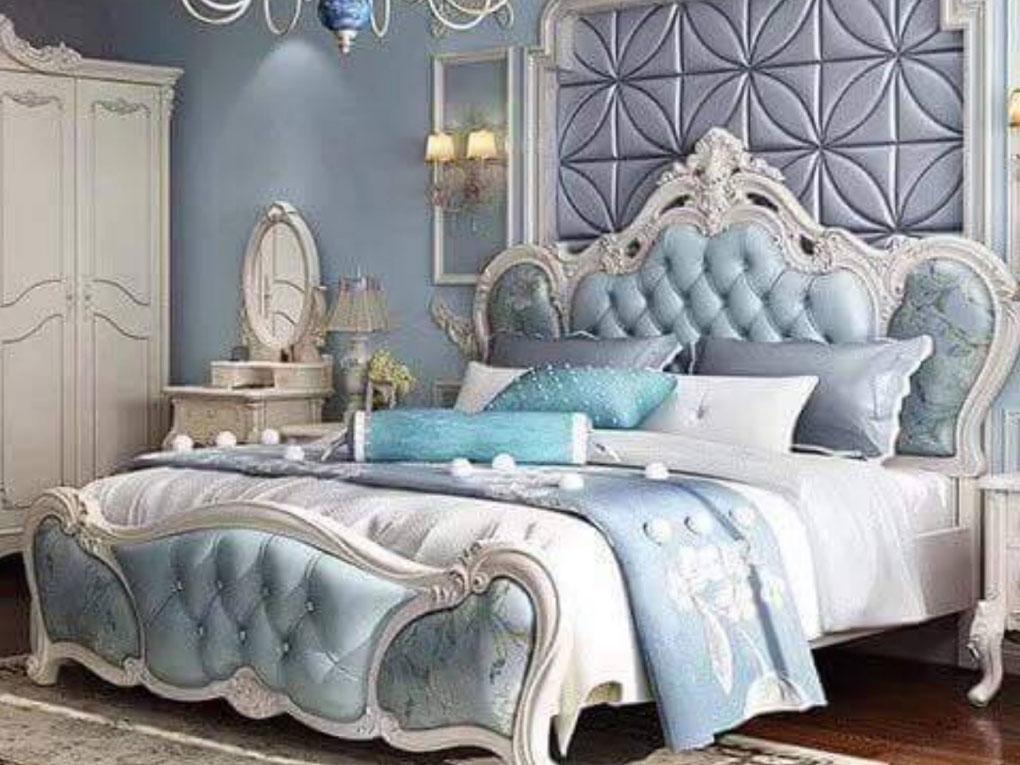 ห้องนอนสีฟ้าสไตล์คุณหนู