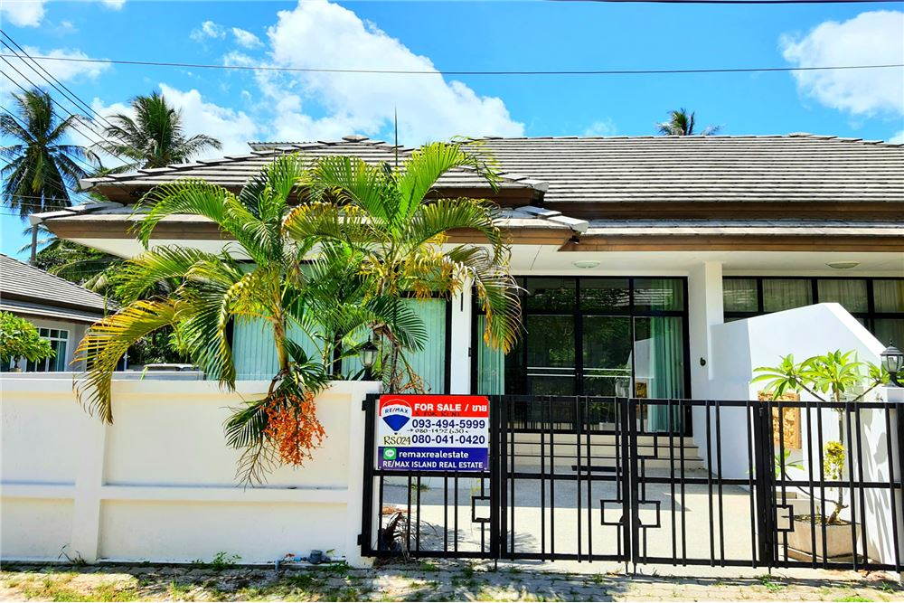 RE/MAX ID. RS024 <BR> <BR>2 Bedrooms house with Jacuzzi 2 x 2 meters in Maenam Village for SALE <BR> <BR>Nice residence zone for a good living area which is just 5 minutes drive to the main road (Samui Ring Road) <BR> <BR>Key Feature: <BR> <BR>✅ 2 Bedrooms <BR> <BR>✅ 1 Bahtroom <BR> <BR>✅ 1 Living Room <BR> <BR>✅  Open space Kitchen  <BR> <BR>✅  Car Parking <BR> <BR>✅  Jacuzzi 2 x 2 meters <BR> <BR>This property is nearby <BR> <BR>- Maenam Walking Street 5 Minutes <BR> <BR>- Beach 5 Minutes <BR> <BR>- Shopping Mall and Night life 20 minutes <BR> <BR>- Samui Airport 20 Minutes <BR> <BR>- Electricity and Water are Government Rates <BR> <BR>Note : Location shows is our office.  <BR> <BR>Title Deed : Chanote (FREEEHOLD) <BR> <BR>For more information or viewing this property, <BR> <BR>Please contact direct to +66 80 145 2630 (Call / WhatsApp)  <BR> <BR>Email : rinsamui@remax.co.th  <BR> <BR> <BR>