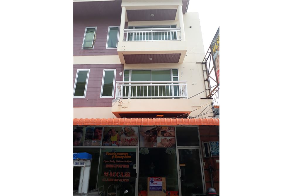 Commercial building, 246 sqm,  for rent located in Kata beach. <BR> <BR>3 story  office in good condition located near the main road in the center of Kata area. <BR> <BR>Big hall on the ground floor with office in good condition. <BR> <BR>A large space with balcony and one bathroom on the second floor. <BR> <BR>Two bedrooms and two bathrooms on the third floor. <BR> <BR>Water & electricity - government prices. <BR> <BR>Deposit of 2 months rental. <BR> <BR>Yearly price 55,000 bath per month <BR> <BR>Please for more information contact us